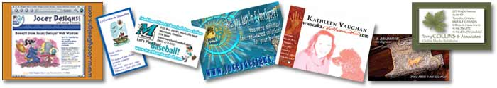 [Business cards, Postcards, Web cards, Net cards]