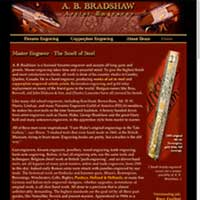 [Screenshot of A. B. Bradshaw's Gun Engraving Web Site]