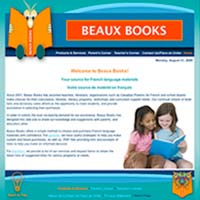 [Screenshot of Beaux Books' Original Web Site]