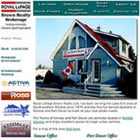 [Screenshot of Royal LePage Brown Realty Brokerage's Web Site]
