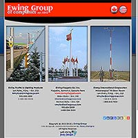 [Screenshot of Ewing Group of Companies' Web Site]