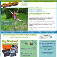 [Screenshot of Glenbrook Day Camp's Original Web Site]