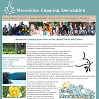 [Screenshot of Mennonite Camping Association's Web Site]