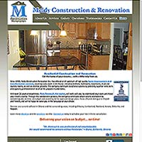 [Screenshot of Meldy Construction Renovation's Web Site]