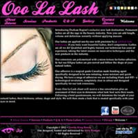 [Screenshot of Ooo La Lash's Web Site]