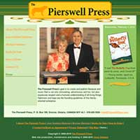 [Screenshot of The Pierswell Press' Web Site]