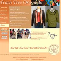 [Screenshot of Peach Tree Originals' Web Site]