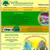 [Screenshot of Willowgrove's Original Web Site]